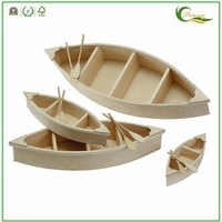 Wood Carving Boat For Home Decoration