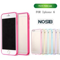 Hard Plastic Clear Back Cover Ultra Thin TPU Bumper Cell Phone Case for iPhone 6 4.7 inch