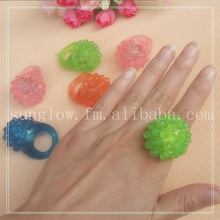 strawberry Silicon finger led glow ring light