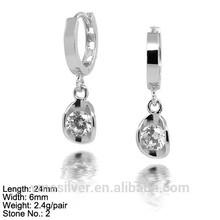 EZZ-0028 925 Hoop Earring Dangle Earring Design Simple Fashion Style