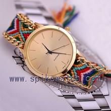 2015 Multicolor Handmade Ladies Bracelet Braided Friendship Watch