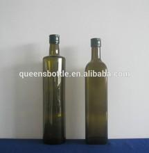 ROUND GLASS BEVERAGE BOTTLES FOR OLIVE OIL 500ML 750ML