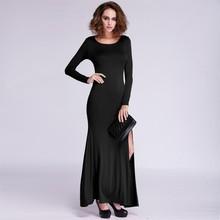 New Fashion Sexy Evening Dress Long Sleeve Bifurcated Shape Bodycon Party Maxi Sex Prom Dress SV011184 #
