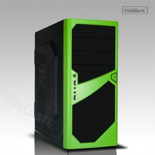 Black ATX Mid Tower Gaming Computer Case W/ 120MM & 80MM LED, USB 3.0