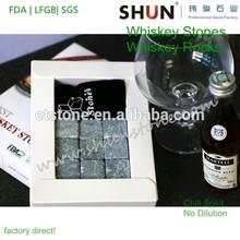 Cubo di pietra whisky e il regalo di festa bar accessorio, 100% natura prodotti in pietra ollare