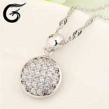925 Sliver round pendant wholesale silver jewelry