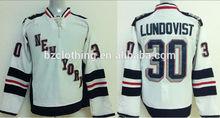 Henrik Lundqvist #30 New York Rangers Stadium Ice Hockey Jersey