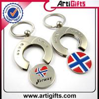 Customized souvenir metal coin keychains canada