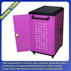 Hot sale school classroom metal customized OEM FY security storage charging trolleys for laptop tablet