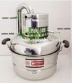 De alta calidad! Hogar de acero inoxidable para el hogar 8l destilador de alcohol con el termómetro espíritus( alcohol) de destilación de la caldera