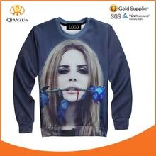 Womens/Mens Blue Rose Print 3D Sweatshirts Plant Sweaters Hoodies