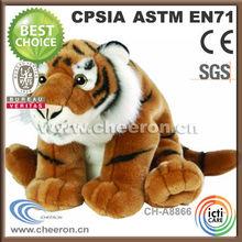 Feels warm and cozy plush tiger stuffed toy