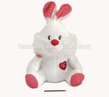 55cm Animal design plush white rabbit for easter day