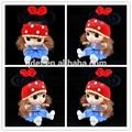 Mickey bébé souris crochet chapeau gros, Bande dessinée caractère crochet chapeau, Crochet tricoté chapeaux d'hiver