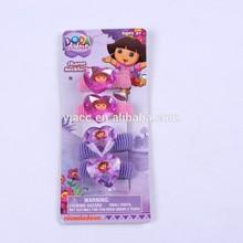 Dora hair terry pony /elastic hair bands /hair accessory set for kids