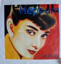 Beautiful girl oil painting audrey hepburn portrait