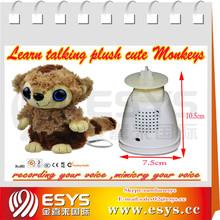 New lovely plush repeat monkey toys ,plush talking monkey toys