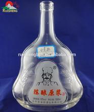 high quality super flint white vodka 1000 ml glass bottle