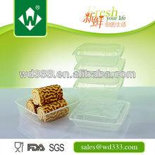 1000ml Disposable Plastic Cake Container Box