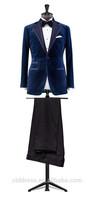 2 piece latest design men suit,Velvet suit wool pants