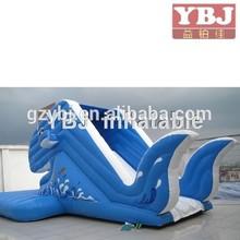 shark ocean sea theme China cheap hot sale guangzhou 2015 fire truck inflatable water slide