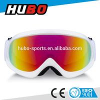 2015 Newest design kids ski glasses REVO red anti fog custom snow goggles