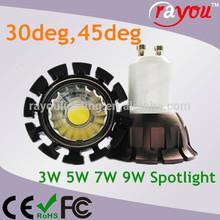 Epistar/Osram led spotlight 3w, high power led light mini spot mr16 12v, 12v 3*1w led spotlight gu5.3