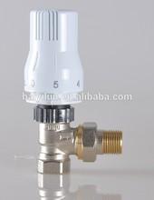 Chrome/Nickel Plated two-way angle thermostatic radiator valve