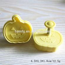 Halloween pumpkin shaped fondant plunger cutters and halloween 3D cookie cutter