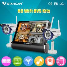 VStarcam 4 channels Video NVR NVS Home Surveillance System wireless camera set