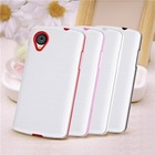 Soft White Back + Color TPU Bumper Case For LG Google Nexus 5 D820 D821 E980 With Free Screen Protector