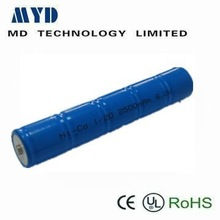 airsoft gun battery Ni-CD 1/2D 6v 2500mAh rechargeable battery pack