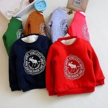 Z84013C 2014 fashion design fleece thicken kidS t-shirts