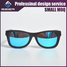 SEER 2015 China Wood Wayfarer Mirror Sunglasses
