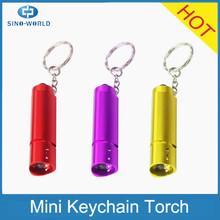 Promotional pocket mini torch practical keychain led flashlight wholesale, promotional light