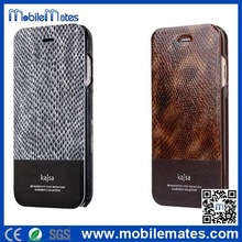 Kajsa Snake Skin Genuine Leather Case for iPhone 6 Plus with Card Slots, Luxury for iPhone6 Casing Covers