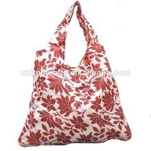 sexy printing nylon vest shopping bag