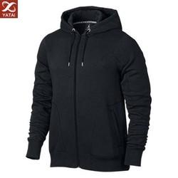 custom made men's thick plain hoodie zip