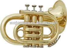 XTR002B Brass Pocket Trumpet Big Bell for Sale