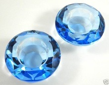 Blue Crystal Candle Holder Candlestick Tealight MH-1703