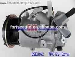 6SEU16C A/C FOR TOYOTA HIACE VAN 447260-0975/447190-3230 447260-0975 447260-0568 7PK 132mm HOTSALE CAR AIR COMPRESSOR