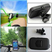 Wholesale Bike Accessory Cycling Waterproof Handlebar Bicycle Mount Holder Case for Mobile Phone GPS Mount up to 5.5""