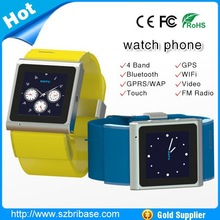 China Wholesale cheap price touch screen unlocked 3G Dual Core GPS WIFI Android smart watch mobile phone