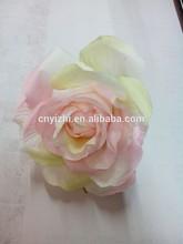 Light color artificial flower rose,velvet rose for wedding decoration YZT1-1607