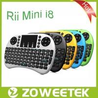 Rii i8 2.4g RF Wireless with Touchpad Mini Spanish English Keyboard For Smart TV
