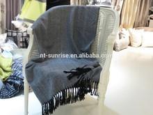 Knit with tassel 100% cotton blanket