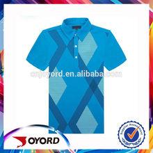 Custom dry fit blue golf wear no moq limit