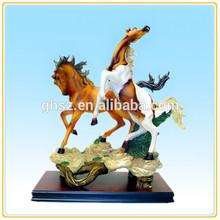 Modern home decor desk decor polyresin jade flying horse statue