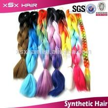 Hot in African kanekalon hair fiber braids heat resistant synthtic Promotion