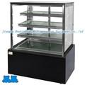 Derecho- en ángulo comercial de la moda de alta calidad de cuatro capas de pastel mostrar refrigerador